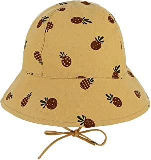 2020 Women Unisex Boy Girl Spring Summer Printing Sunscreen Fisherman Hat Cute Cartoon Hat Size 52CM Casual Soft Decoration Lighting Wool Cotton (Color : Yellow, Size : 52)