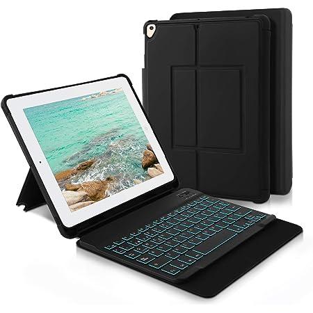 HANYEAL Funda para teclado inalámbrico para iPad 2019 de 10,2 pulgadas (7ª generación), iPad Air 2019 (3ª generación), iPad Pro 10,5 2017, iPad ...