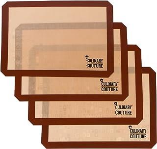 Set de Tapis de Cuisson en Silicone (4) Plaque à Pâtisserie Antiadhésive - 42 x 29.5 CM