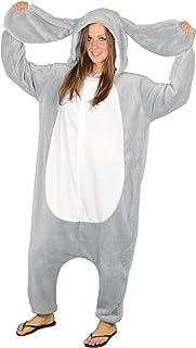 Foxxeo Hasen Kostüm für Erwachsene Größe S- XXL für Damen und Herren grau Hase Hasenkostüm Schlappohren Tierkostüm Tier Ov...