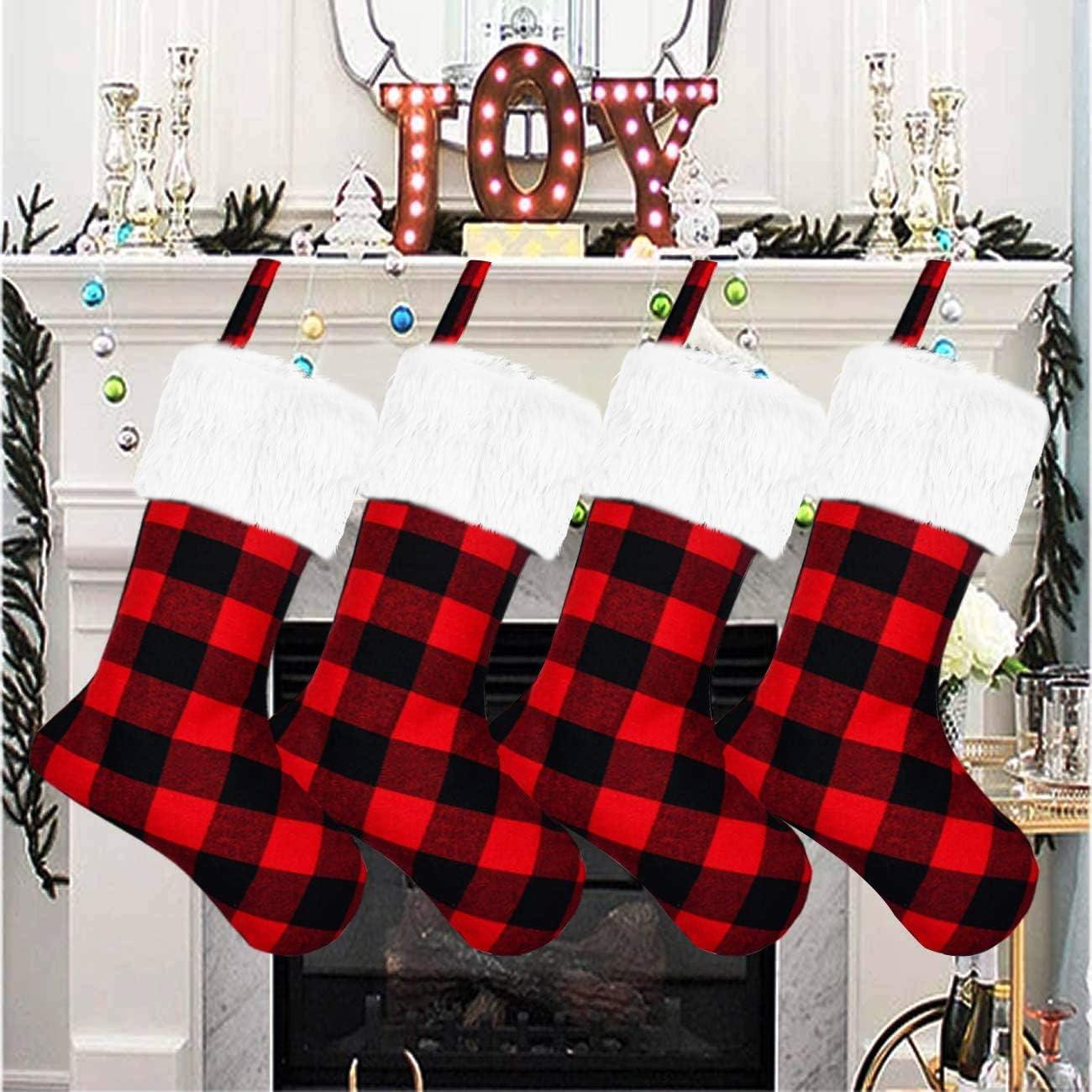 Senneny Christmas Stockings- 4 Pack Super sale period limited Buffalo 18