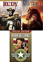 Impossible dream hope Fantasy Stephen Spielberg War Horse Story + Rudy & Good Morning Vietnam 3 DVD Inspire Bundle