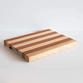 Tagliere da cucina in legno a righe