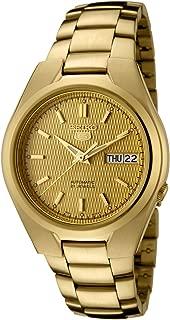 Seiko Men's SNK610 Seiko 5 Automatic Gold Dial Gold-Tone Stainless Steel Watch