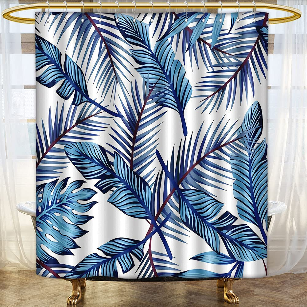 Retro Shower Popular product Curtain Tropical Theme Creative Palm of Collection Limited Special Price