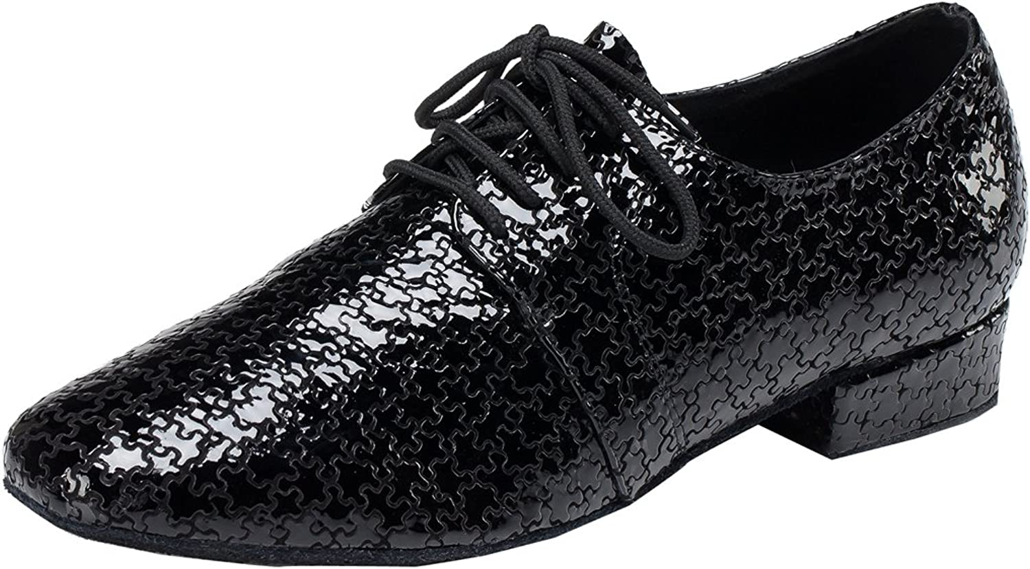 TDA Men's Fashion Comfort Lace-up Round Toe Leather Salsa Tango Ballroom Latin Modern Dance shoes