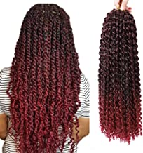 Passion Twist Hair 18inch Long Bohemian Curly 7 Packs Water Wave For Crochet Braiding Hair Extensions
