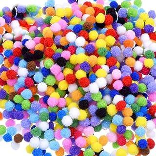 1000 stuks 10mm Pom Poms Cheerleading ballen voor ambachten maken,Hobbybenodigdheden en DIY creatieve ambachten decoratie...