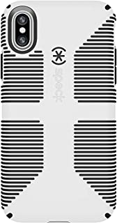Speck Products CandyShell Grip Cell Phone Case for iPhone XS/iPhone X - White/Black