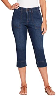 Gloria Vanderbilt Cropped Design Side Slit Cuff Pants