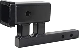 MaxxHaul 80875 1-1/4' to 2' Hitch Adapter With 4' Rise and 3-3/8' Drop - For Class I and Class II Receivers
