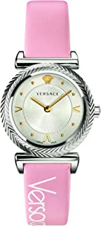 Versace Ladies Watch Quartz leatherstrap VERE00118