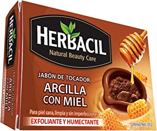 Herbacil Herbacil jabón de arcilla con miel Café, Pack of 1