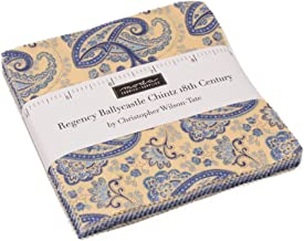 Regency Ballycastle Chintz Charm Pack by Christopher Wilson Tate; 42-5 Inch Precut Fabric Quilt Squares