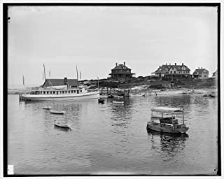 Vintography 16 x 20 Ready to Hang Canvas Wrap Appledore House Hotel and Landing Isles of Shoals N H i e Maine 1904 Detriot Publishing 66a