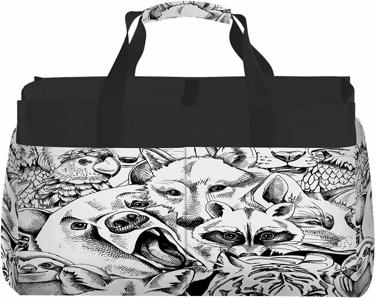 Nicokee Large Capacity Portable Storage Tiger Super beauty product restock quality top! Wolf Fox Bear Bag free shipping