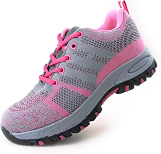 Eclimb Women's Steel Toe Safety Work Shoes Slip Resistant Protect Shoes