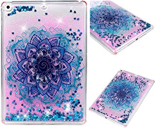 iPAD Air/Air 2 Case, Liquid Glitter Case Bling Shiny Sparkle Flowing Moving Love Hearts Clear Cover Ultral Slim Shockproof Drop Resistant TPU Bumper Frame Acrylic Shell Case for iPAD/Air / Air 2