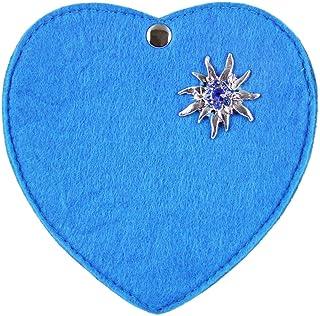 Herz Trachtentasche mit Edelweiß Applikation für Kinder - Wunderschöne Herztasche für Mädchen zu Dirndl und Lederhose