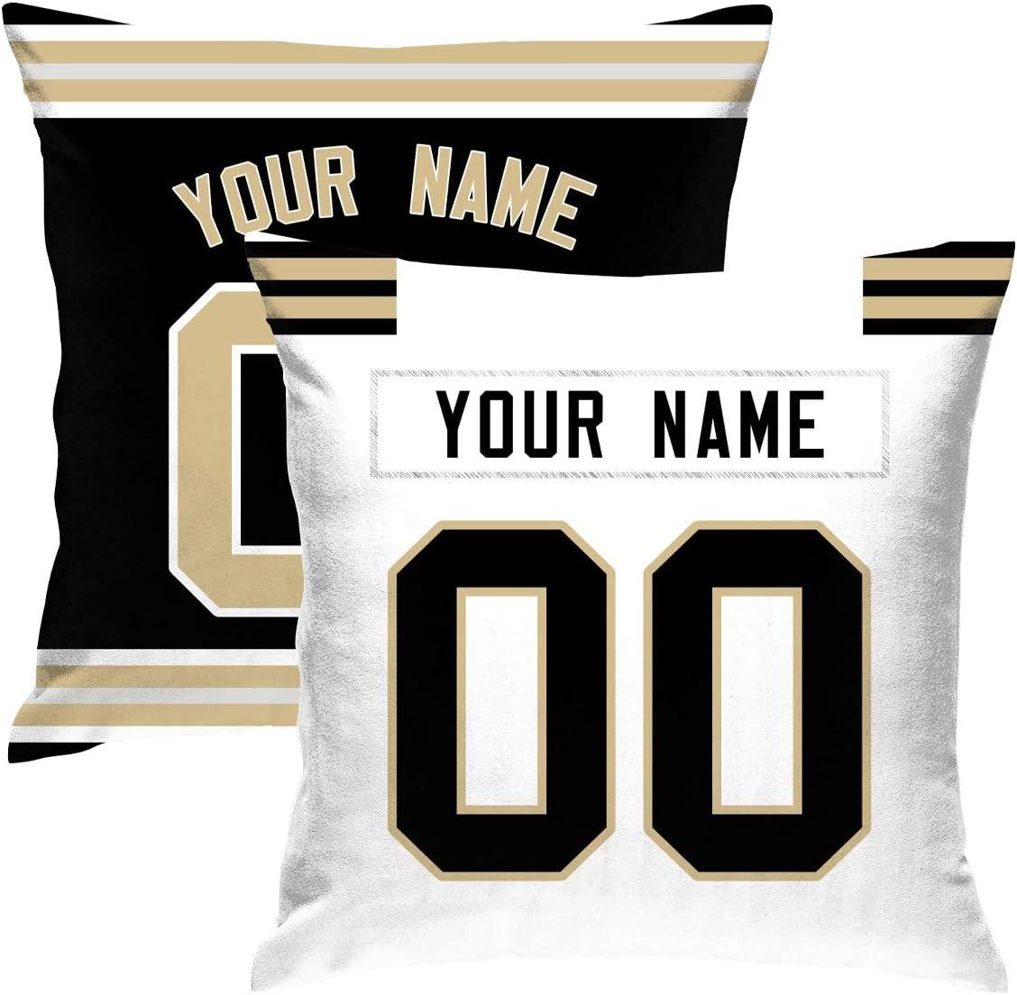 Buffalo Custom Decorative 2 Pack Throw Pillow 18 x 18 Print Personalized Football Style,Customization Design Any Name