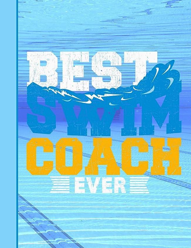売上高生活バイオリンBest Swim Coach Ever Notebook: Journal for School Teachers Students Offices - College Ruled, 200  Pages (8.5