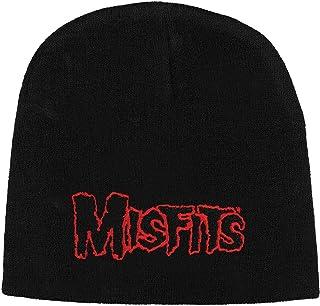 Rockabilia Men's Misfits Beanie One Size Black/Red