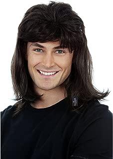 80s Black Mullet Wig for Men 70s 80 Disco Redneck Hillbilly Costume Wigs Rocker Halloween Costume Adults Kids