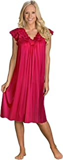 Shadowline Women's Plus-Size Silhouette 40 Inch Short Cap Sleeve Waltz Gown
