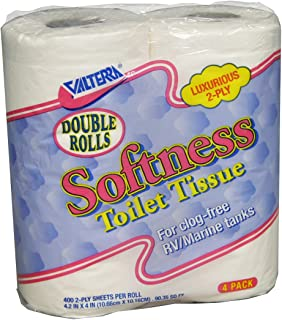 Valterra White Q23638 Softness 2-Ply Toilet Tissue-Double Roll, Pack of 4