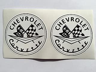 2 Chevrolet Corvette C1 Die Cut Decals