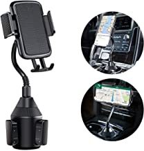 KNGUVTH Car Phone Holder Cup Holder Phone Mount Universal Adjustable Auto Gooseneck CupHolder Cradle Car Mount with a Flexible Long Neck Compatible for iPhone 11 Pro Max/Xs/XS Max/X/8/7 Plus/Samsung