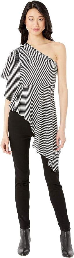Linen White/Black Milesian Stripe