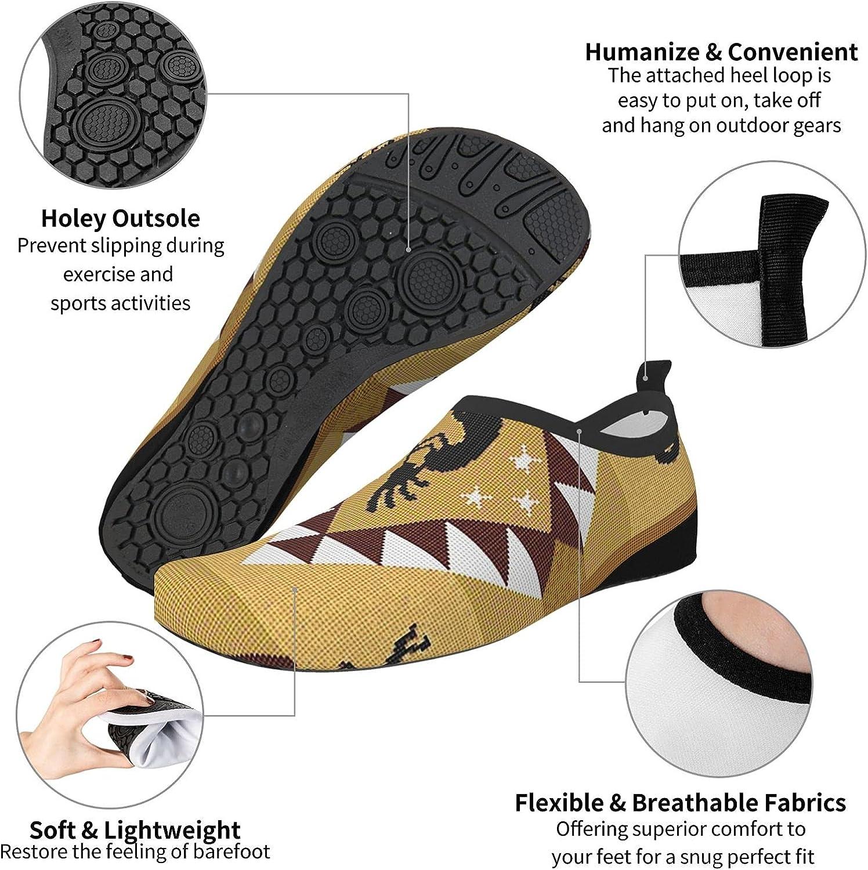 Womens Mens Summer Water Shoes Kokopelli Southwest Native American Ethnic Barefoot Shoe Quick Dry Aqua Socks