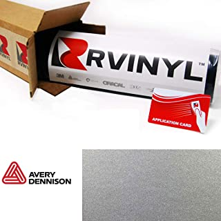 Avery SW900 805-M Satin Silver Metallic Supreme Wrapping Film Vinyl Vehicle Car Wrap Sheet Roll - (12