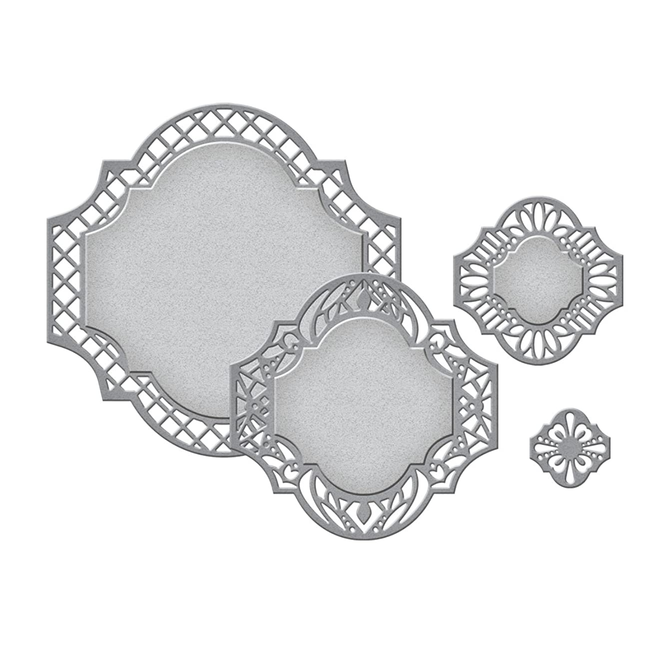 Spellbinders S4-470 Nestabilities Labels Forty-One Decorative Elements Etched/Wafer Thin Dies