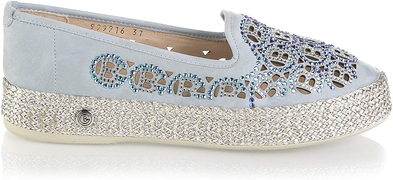 Baldinini 6717 bluee Suede Espadrilles Summer Women Italian Designer