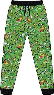 Mens Teenage Mutant Ninja Turtles Cuffed Lounge Pants Pyjama Bottoms Size XL Green