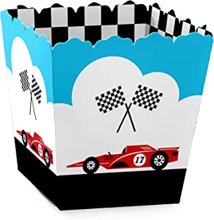 Let's Go Racing - Racecar - Party Mini Favor Boxes - Race Car Birthday Party or Baby Shower Treat Candy Boxes - Set of 12
