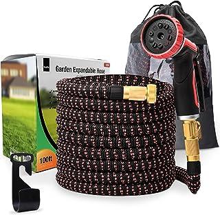 100 FT Expanding Hose Pipe – Garden Water Hose with 10 Setting Spray Gun Attachment – Flexible & Expandable Magic Hose, Hi...