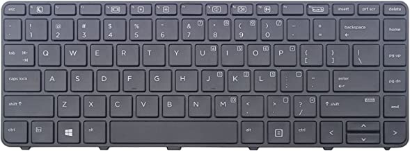 ndliulei New US Black Laptop Backlit Keyboard (with Frame) Replacement for HP Probook 430 G3 440 G3 430 G4 440 G4 446 G3 Light Backlight
