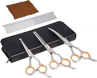 Premium Dog Grooming Scissors (Black)