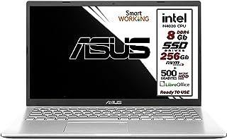 Asus Vivobook notebook, dual SSD M.2 Nvme pci da 256Gb + HDD 500 Gb, Intel N4020 fino a 2.8Ghz, 8Gb ddr4, Display da 15,6 ...