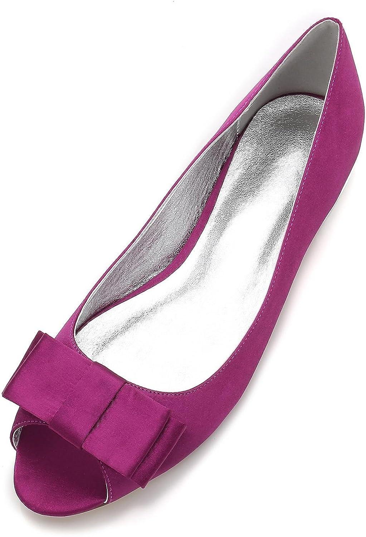 Damen Hochzeit Schuhe Peep Toe Pumps Satin Seide Chunky Chunky Brautjungfer Court Schuhe   5049-11  Online bestellen