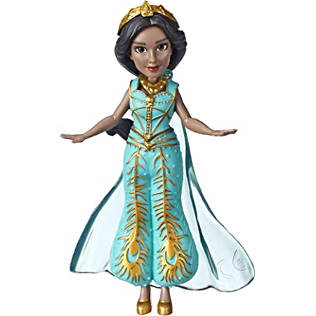 """Disney Princess Collectible Jasmine Small Doll in Teal Dress Inspired by Disney's Aladdin Live-Action Movie, Toy Doll for Kids Ages 3 & Up, 3.5"""""""