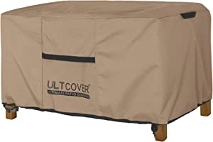 ULTCOVER Patio Coffee Table Cover, Waterproof Rectangular Outdoor Small Side Table Cover 42L x 24W x 18H inch
