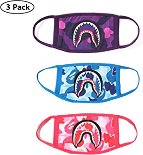NF orange 3 Pack Camping First Aid Kits Bape Shark Face Mask