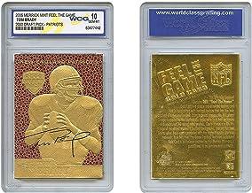 Tom Brady 2000 Premiere Pick Feel Game Gold Card Rookie - Graded GEM Nint 10