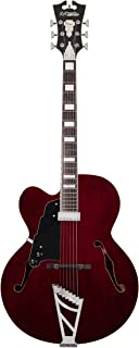 D'Angelico Premier EXL-1 Hollow-Body Lefty Electric Guitar w/ Stairstep Tailpiece - Trans Wine