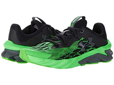Under Armour Kids Charged Scramjet 3 (Big Kid) (Black/Laser Green/Pitch Gray) Boy