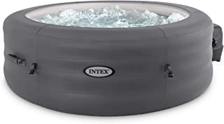 Intex 28481E Simple Spa 77in x 26in 4-Person Outdoor Portable Inflatable Round Heated Hot Tub Spa with 100 Bubble Jets, Fi...